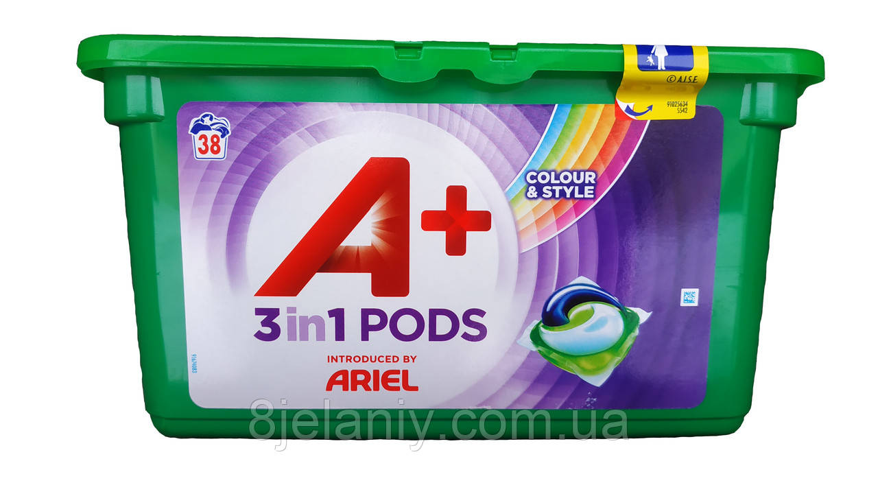Гелевые капсулы Ariel PODS 3in1 color 38 шт
