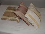 Комплект подушок бежеві двосторонні, 3шт, фото 2