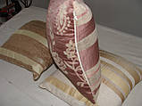 Комплект подушок бежеві двосторонні, 3шт, фото 3