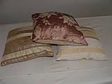 Комплект подушок бежеві двосторонні, 3шт, фото 4
