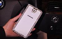 Чехол для Samsung Note 3 N9000 прозрачный с кристаллами, фото 1