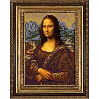 """Схема для вышивки бисером """"Джоконда"""" по мотивам картины Леонардо Да Винчи"""