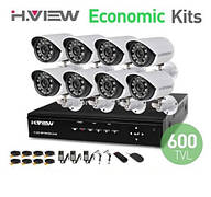 Комплект видеонаблюдения DVR KD-264kit 8 камеры