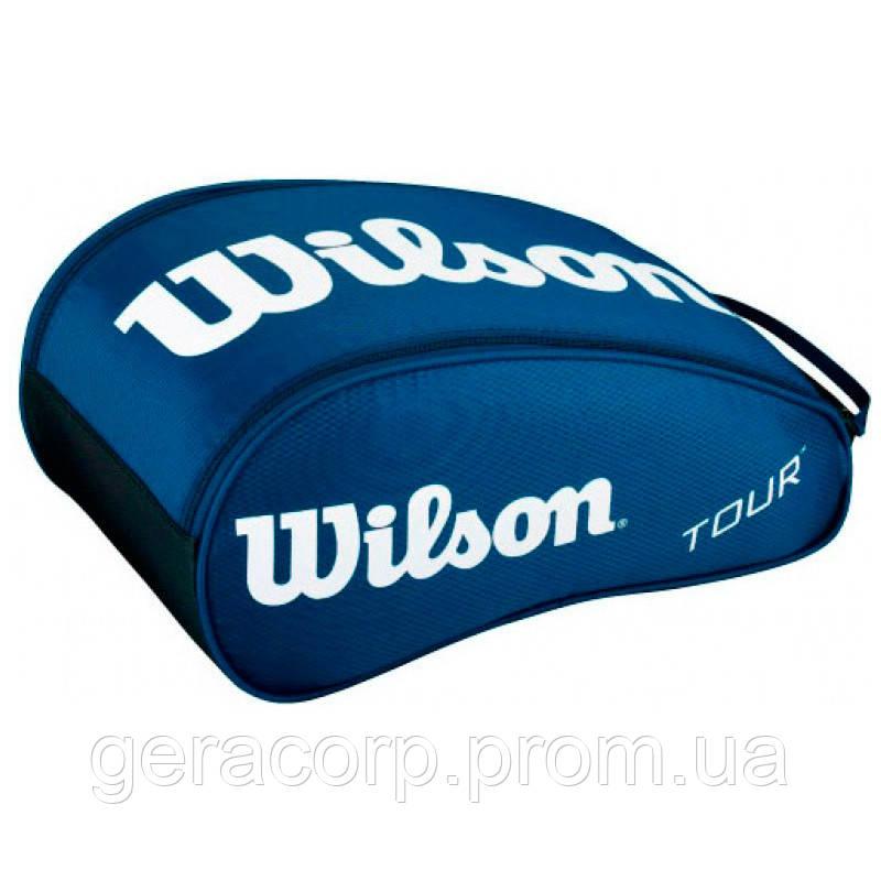 Сумка для обуви Wilson tour shoe bag II navy 2014 year