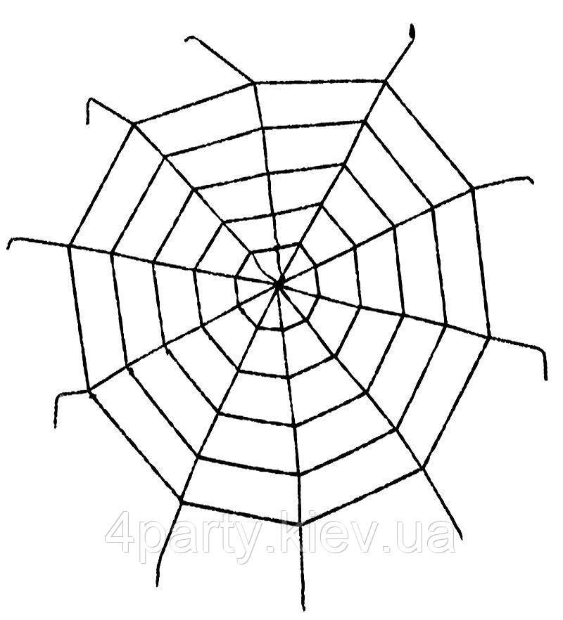 Паутина 150 см. (черная) 270216-035