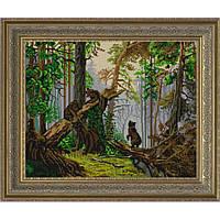 """Схема для вышивки бисером """"Утро в сосновом лесу"""" по мотивам картины И.И.Шишкина"""