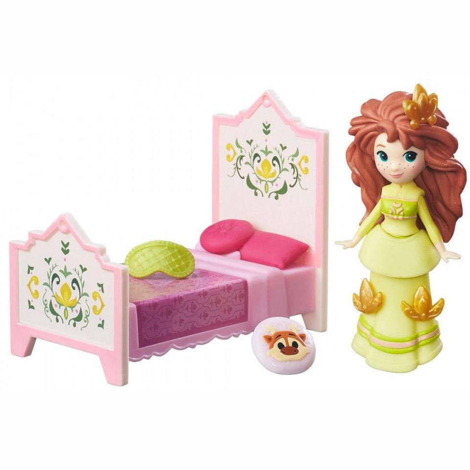 Игровой набор Дисней Холодное Сердце Анна с кроваткой. Оригинал Hasbro B7462/B5188