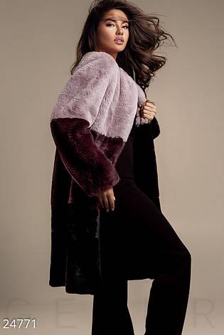 Меховое пальто Сolor Block, фото 2