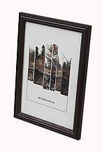 Рамка 10х10 из дерева - Дуб коричневый тёмный 2,2 см - со стеклом