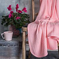 Детский вязаный плед Комильфо хлопок розовый 110х120 VZ-034, фото 1
