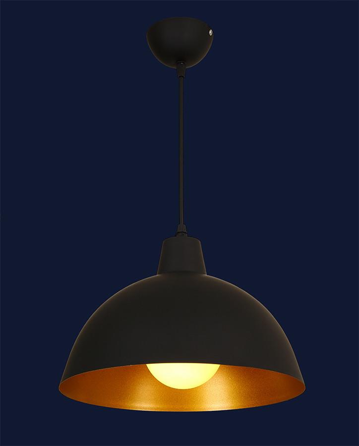 Купольный светильник с золотом внутри 7546493-1 BK+GD
