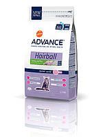 Корм ADVANCE(Эдванс) Cat Hairball для домашних котов с индейкой , 1,5 кг