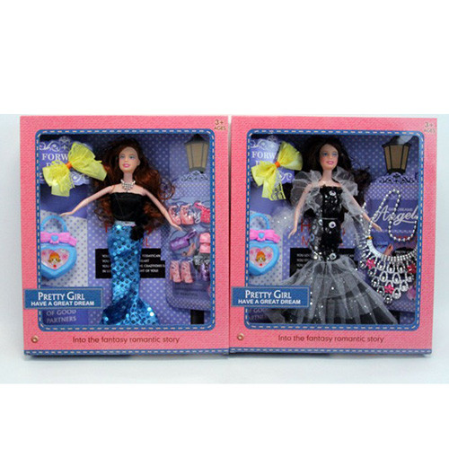 Кукла 6628-C (30шт) 28см, сумочка, 2вида(украшения/обувь), в кор-ке, 28-33-6см