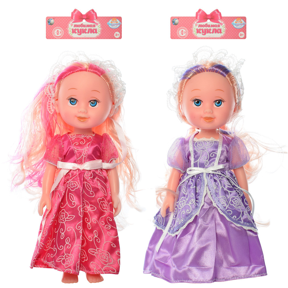 Кукла 170996A (48шт) 22см, звук, 3вида, бат(таб), в кульке, 18,5-34-6см