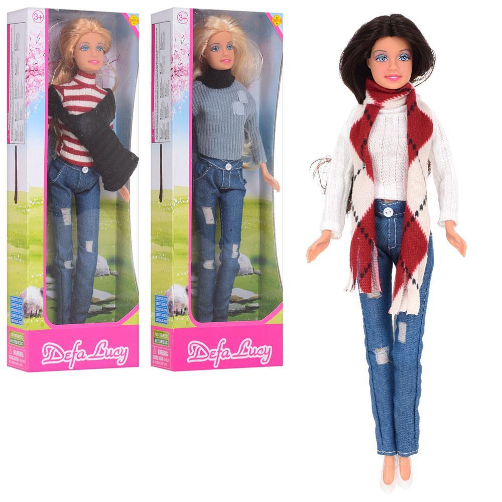 Кукла DEFA 8366-BF (48шт) 29см, 3 вида, в кор-ке, 31-11-5см