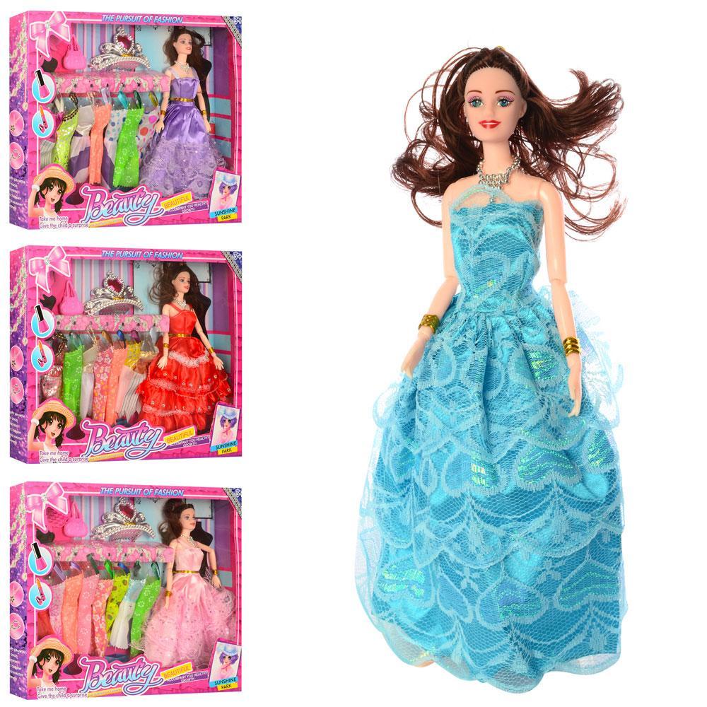 Кукла с нарядом SD178-79-80-81 (24шт) 28см, диадема,сумочка,расческа,микс вид,в кор,42-32,5-5,5см