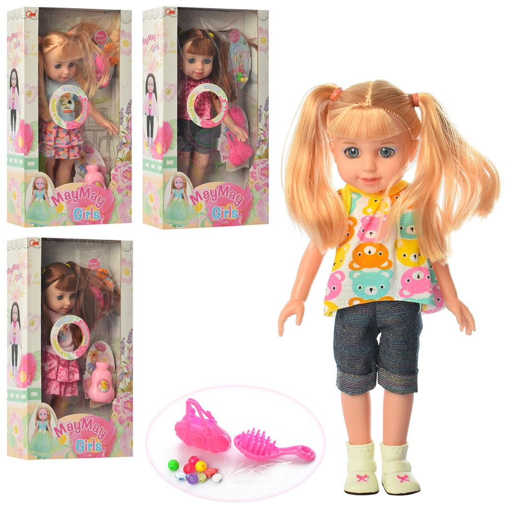 Кукла 909-EN (60шт) 30см, аксессуары, муз, на бат(таб), 4вида, в кор-ке, 19,5-34,5-7,5см