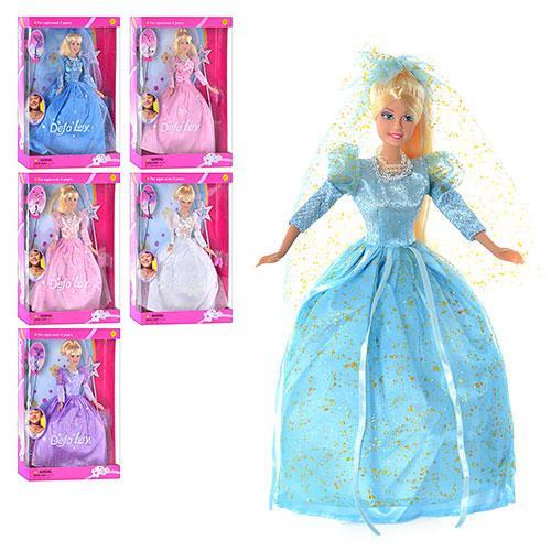 Кукла DEFA 20947 (24шт) фея, аксессуары, кулон, 6 видов, в кор-ке, 34-24-6,5см