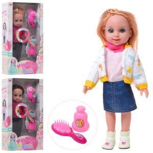 Кукла 909-DP (60шт) 30см, расческа, аксессуары, муз, 3вида, на бат(таб), в кор-ке, 19,5-34,5-7,5см