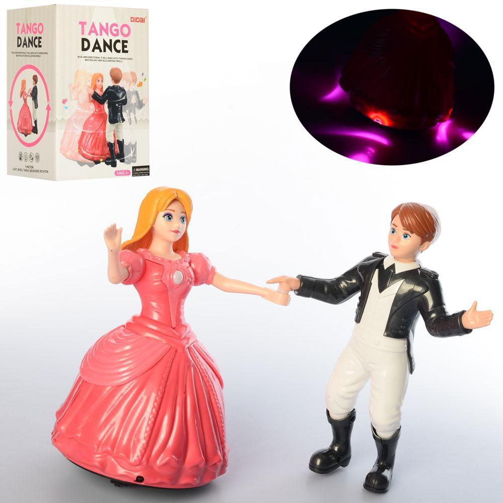 Кукла LD-145A (24шт) 2шт, 23см, танцуют, муз, свет, на бат-ке, в кор-ке, 16-22-14см