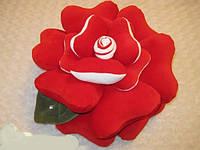 Подушка ручной работы Роза красная