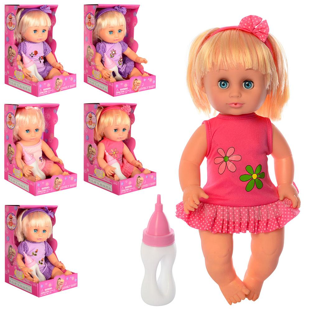 Кукла DEFA 5055 (24шт) 34см, бутылочка, звук, микс видов, на бат(таб), в кор-ке, 16-26-16,5см
