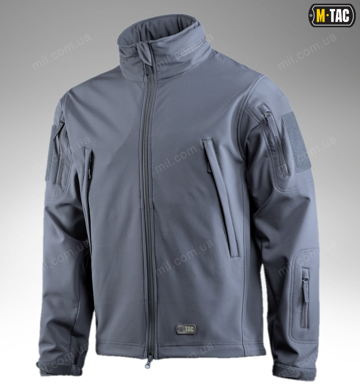 Демисезонная тактическая куртка SOFT SHELL M-TAC (dark grey)