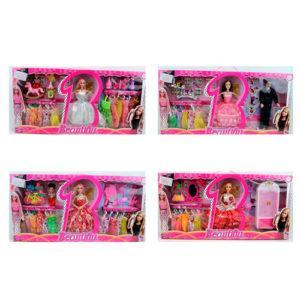 Кукла с нарядом 8878A1-B1-C1-D1 (24шт) 29см, платья, аксессуары, 4вида(1вид-Кен),в кор-ке, 68-34-7см