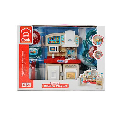 Мебель 3030-1 (12шт) 27см, кухня, звук, свет, посуда,на бат-ке, в кор-ке, 39-29-9см