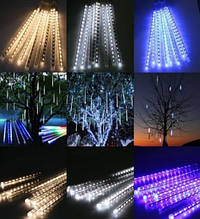 Уличная гирлянда Снегопад Snowfall Light 3 м. 8 палочек по 30 см. белая, LED-гирлянда Бегущая Капля 3 метра