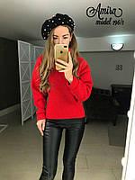 Женский теплый красивый свитер