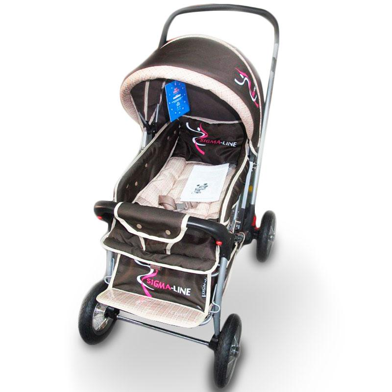 Детская прогулочная коляска книжка Sigma H-538AF (надувные колеса)
