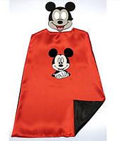 Карнавальный костюм накидка и маска Микки Маус для мальчика