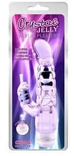Гелевый вибратор Crystal Jelly My Dual Pleasure, фиолетовый, фото 3