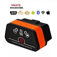 Диагностический автосканер Vgate iCar2 ELM 327 OBD2 V2.1 WiFi для Android, iOS, Windows Orange