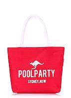 Коттоновая сумка красного цвета от POOLPARTY, фото 1