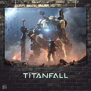 Постер TitanFall 2, Тайтнфолл, Титанфолл. Размер 60x42см (A2). Глянцевая бумага