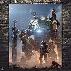 Постер TitanFall 2, Тайтнфолл, Титанфолл (60x74см)