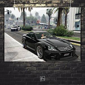 Постер Grand Thief Auto, GTA, ГТА, скриншот. Размер 60x42см (A2). Глянцевая бумага