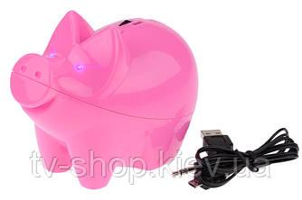 Спикер колонка Розовая свинка с МР3