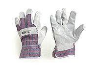 Перчатки комбинированные замшевые р10,5 (эконом)