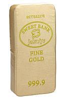 Подушка -сидушка Слиток золота (кожзам)