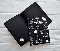 """Скетчбук """"Котята"""",14*10,5 см, 32 листов, обложка мягкая, цвет черный"""