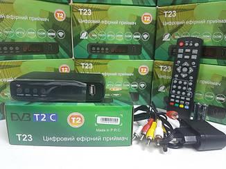 Цифровой эфирный DVB-T2 тюнер ресивер GoldenStream T23 Uclan DVB-C