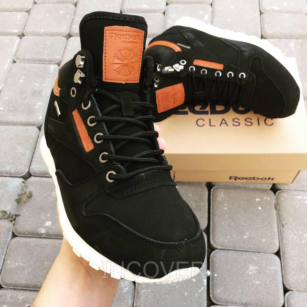 77602892 Мужские зимние ботинки кроссовки Reebok Gore Tex Mid Черные (39,41,42,