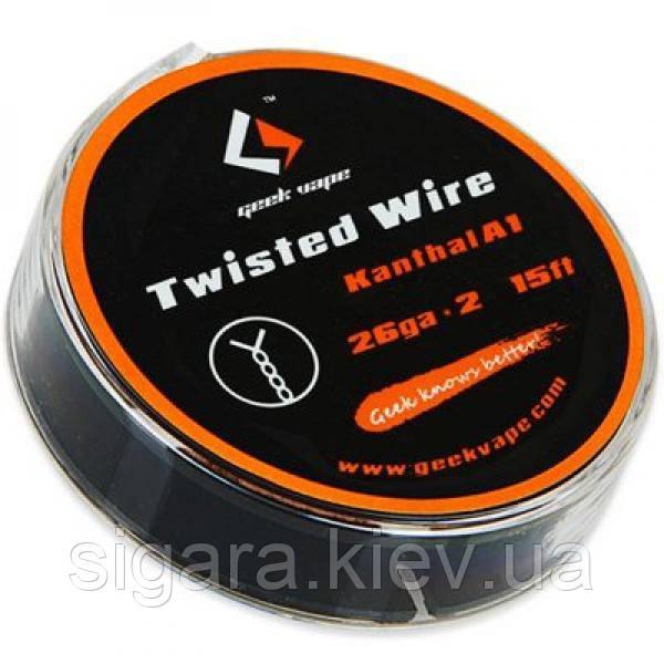 Проволока 5m GeekVape Twisted Wire Atomizer DIY Kanthal A1 (28GA*2) 15 ft