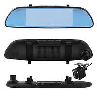 Автомобильный видеорегистратор зеркало 7'' с двумя камерами 701, Full HD 1080P, фото 1