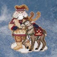 Набор для вышивки Lapland Santa Лапландский Санта Mill Hill