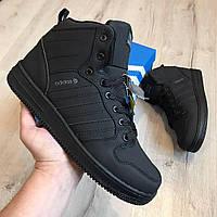 Мужские зимние кроссовки ботинки Adidas Neo Черные (42,43,44,45)