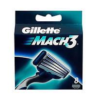 Сменные кассеты (лезвия) Gillette Mach3 8 шт.